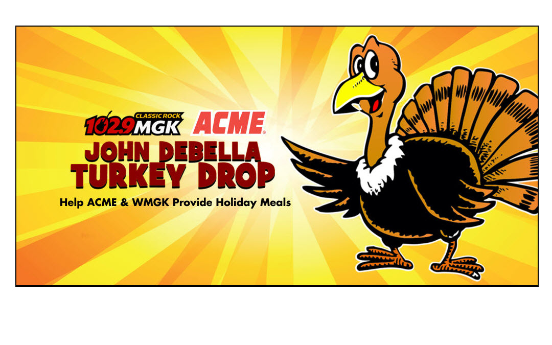 WMGK-FM John DeBella Turkey Drop Helps Families Who Can't Afford Holiday Meal