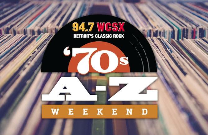 WCSX-FM Presents a Motor City Classic Rock A thru Z Weekend